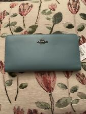 Coach Smooth Leather Skinny Wallet GM/Marine # 58586 NWT