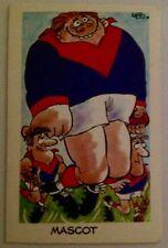 1973 SUNICRUST WEG'S FANTASTIC FOOTY CARTOONS CARD NO. 32 - MASCOT MELBOURNE