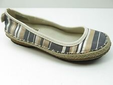 Simple Brand Green Toe Tan & Gray Natural Silk Flats Loafers 5M 5 MSRP $129