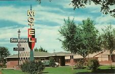 """Worland WY  """"The Sun Valley Motel""""  Postcard  Wyoming  *FREE U.S. Shipping*"""