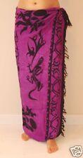 New Unisex Sarong Beach Wrap Skirt Scarf Cover Up Purple Gecko Design / sa152