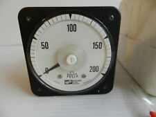 Crompton Instruments Analog Panel Mount DC Voltmeter 0-200 Volts Meter
