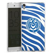 Sony Xperia XA Ultra Silikon Hülle Case - Blaues Zebra MSV