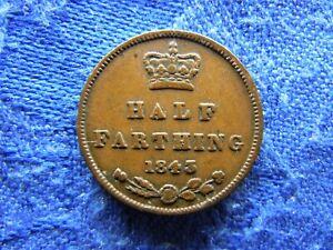 UK 1/2 FARTHING 1843, KM738