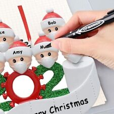 2020 Marry Christmas Hanging Quarantine Ornaments Family Personalized Xmas Decor