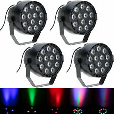 4X Lixada DMX512 RGBW 12LED PAR Stage Lighting Party Disco Show Strobe Light 8CH
