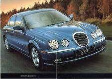 Jaguar S-Type 1998-99 UK Market Launch Foldout Sales Brochure 3.0 V6 SE 4.0 V8