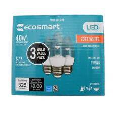 (12-Pack)Eco Smart 40W Equivalent Soft White B11 Clear Decorative Led Light Bulb