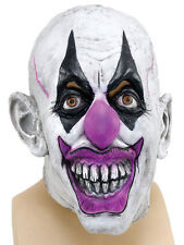 Creepy Sinister Circus Clown Rubber Latex Fancy Dress Halloween Face Mask New
