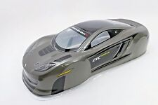 Mclaren Gray P1 Pre-Painted RC Body 1/10th Scale HPI Traxxas 190mm Sports Car