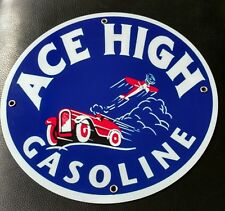 Ace High Gas Oil gasoline sign . Free shipping on any 8 signs