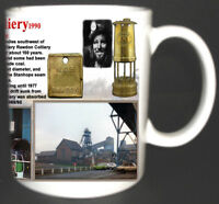 RAWDON COLLIERY COAL MINE MUG. LIMITED EDITION GIFT MINERS MOIRA DERBYSHIRE PIT