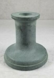 """Studio McGee 3.5"""" x 3.5"""" Soapstone Taper Candle Holder Gray Short - NWT"""