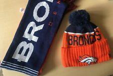 Official NFL Fan Bobble Hat & Scarf Set youth DENVER BRONCOS