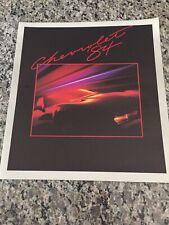 1984 Chevrolet Brochure Camaro Corvette Caprice Monte Carlo Cavalier Chevette 84