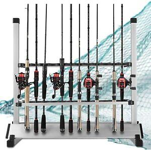 24 Fishing Rod Pole Holder Universal Rod Rack Aluminum Alloy Holder Organizer