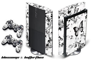 Skin Decal Wrap For PS3 Super Slim PlayStation 3  Console + Controller Blossom-W