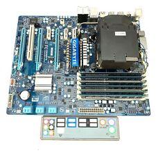 GIGABYTE GA-X58-USB3 Enchufe LGA 1366 Placa Madre Intel + i7 950 CPU + 12GB RAM