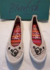 Blowfish Malibu Saffron Lt Grey Twill Canvas Skate Walking Loafer Shoe Sneaker 6