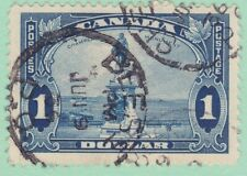 Canada 227 Used 1935 $1 Deep Blue Champlain Monument at Quebec Very Fine