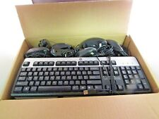 LOT OF 15 HP Assorted USB and PS/2 Wired Keyboard and Mouse Bundle FREE SHIPPING