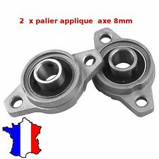 2 palier applique  8mm 2 trous  Roulement à billes KFL08