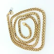 18k solid yellow gold hollow franco chain