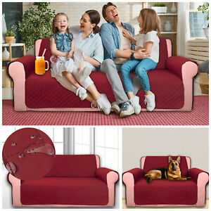 Sofa Cover Quilted Furniture Protector Reversible Throw Couch Anti Slip Covers