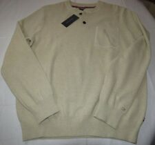Mens Tommy Hilfiger long sleeve sweater shirt L 78B6524 931 beige ivory