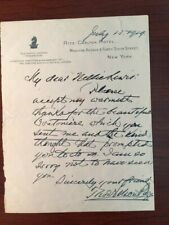 THOMAS NELSON PAGE HANDWRITTEN LTR SIGNED AUTHOR NOSTALGIC VIEW OF BLACK HISTORY