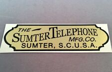 Antique Telephone Water Decal - Sumter Telephone - SKU - 23733