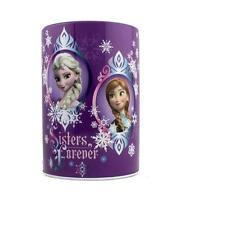 "Disney Frozen Elsa & Anna ""Sisters Forever"" Piggy Coin Tin Can Money Bank"