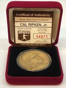 Highland Mint Cal Ripken, Jr Bronze Coin with Case 04871/25000!