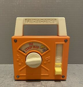 Vintage Fisher Price Wind Up Radio The Candy Man 1978 Works