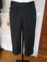 Pantalon court pantacourt coton/polyamide noir TBS 42 bas zip 18AS15