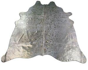 Gold Metallic Cowhide Rug Size: 7' X 6.5' Gold Metallic Cowhide Rug