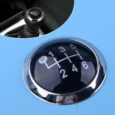 6 Speed Interior Gear Shift Knob Cap Cover Fit for Toyota Avensis Black & Silver