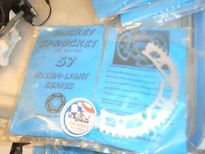 VINTAGE RACING GO KART NOS  35 CHAIN 2 PIECE ROCKET SPROCKET 57 TOOTH CART PART