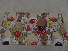 Christmas novelty Rudolf red nose Reindeer craft remnant fabric material piece