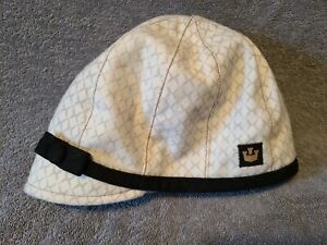 Goorin Bros Women's Tina Flapper Cloche Hat White & Brown Made in USA Small