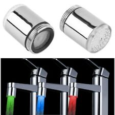 LED Faucet Temperature Sensor Kitchen LED Light Water Faucets 3 Colors RGB Glow