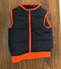 Gymboree Puffer Vest Jacket Black Red 12 -24 Months NWT