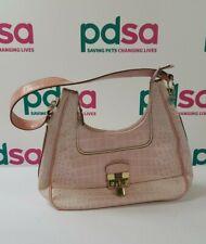 """Baby Pink GUESS Branded """"Yorkshire"""" Croc Print Handbag/Shoulder Bag - A1005"""