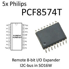 5pcs PCF8574T I2C I/O Expander 8574 PCF8574 IO Philips SO16W NOS