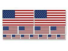 SHEET of Multiple Size USA Flag Stickers (scrapbooking small us american)