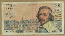 Banque De France 3 Different Type Cardinal Richelieu Notes Sold As A Lot