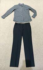 Paquete De Diseñador De mujer/traje: Calvin Klein Pantalones 46/10 ajusta UK12 Camisa TH