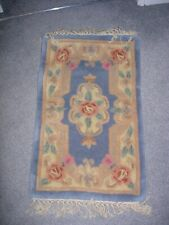 Full Cut Aubusson Blue Rug
