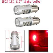 2PCS 1157 LED SUV Car Red Flash Strobe Alert Safety Brake Tail Stop Light Bulb