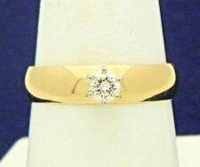 .20 ct Diamond Solitaire Engagement Ring Real Solid 14 K Gold 3.4 g Size 8